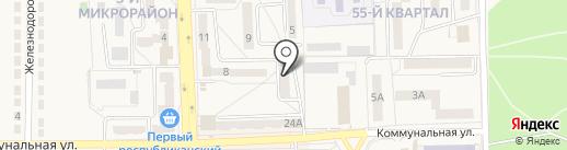 Ясиноватское горрайонное управление юстиции на карте Ясиноватой
