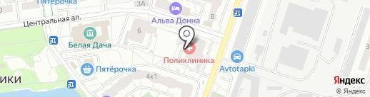 Котельниковская городская поликлиника на карте Котельников
