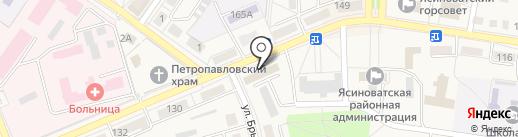Укртелеком, ПАО, телекоммуникационная компания на карте Ясиноватой