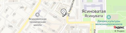 Магазин овощей и фруктов на карте Ясиноватой