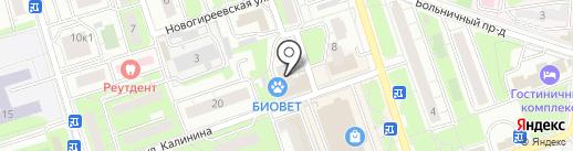 Трэвел-Плэйс на карте Реутова
