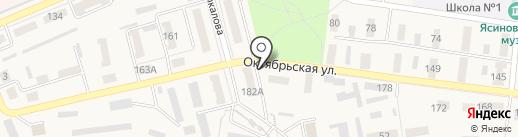 Киоск по продаже хлебобулочной продукции на карте Ясиноватой