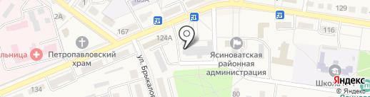 Ясиноватская территориальная профсоюзная организация на карте Ясиноватой