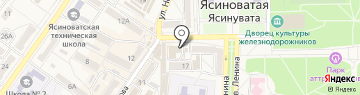 Бутерброд на карте Ясиноватой