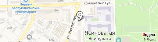 Общежитие на карте Ясиноватой
