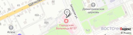 Городская поликлиника №175 на карте Восточного