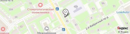 Прометей Сервис на карте Пушкино