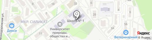 Средняя общеобразовательная школа №1 на карте Котельников