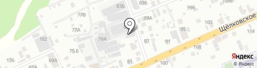 ДАВЕНТ на карте Балашихи
