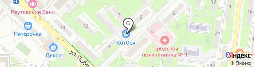 Ветеринарная клиника на карте Реутова