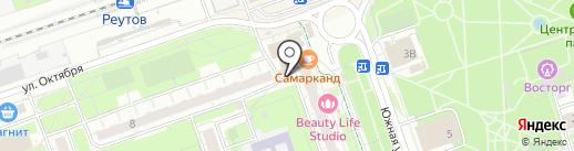 Павловопосадские платки на карте Реутова