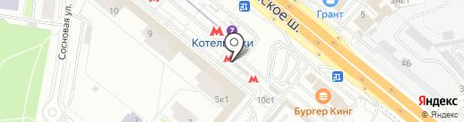 Банкомат, ВТБ Банк Москвы, ПАО Банк ВТБ на карте Котельников