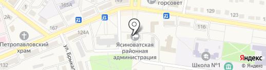 Библиотека №1 на карте Ясиноватой