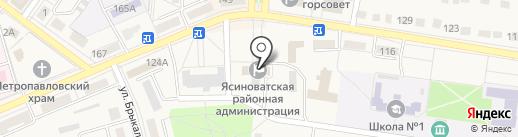 Ясиноватский районный совет на карте Ясиноватой
