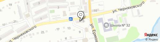 Булочная на ул. Черняховского на карте Макеевки