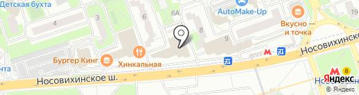 Омега на карте Реутова