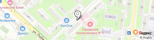 Первая полоса на карте Реутова