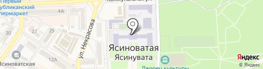 Ясиноватский строительный техникум транспортного строительства на карте Ясиноватой