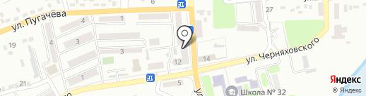 Фидан на карте Макеевки