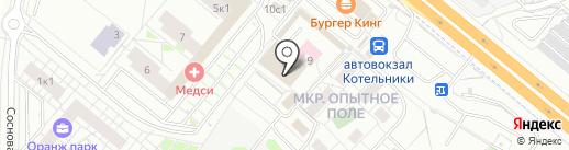 Котельники-9 на карте Котельников