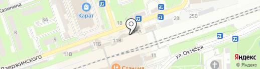 Живика на карте Реутова