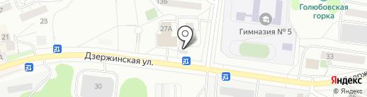 Кредит Пилот на карте Дзержинского