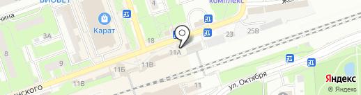 Койот на карте Реутова