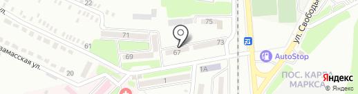 Станция скорой медицинской помощи г. Донецка на карте Макеевки