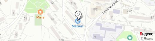 Магнит на карте Дзержинского