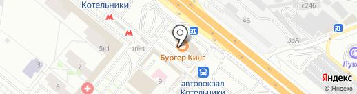 У дороги на карте Котельников