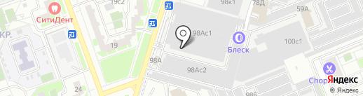 Вираж на карте Люберец