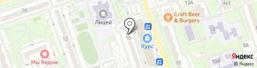 Тенториум на карте Реутова