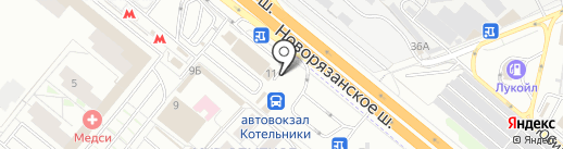 Киоск фастфудной продукции на карте Котельников