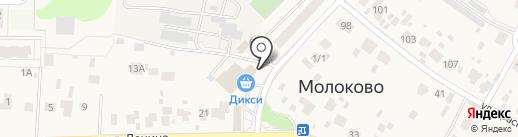 Евтап на карте Молоково