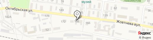 21-я Ясиноватская дистанция пути на карте Ясиноватой