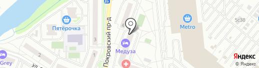 Парикмахерская эконом-класса на карте Котельников