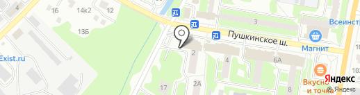 Большая кружка на карте Пушкино