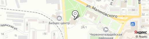Библиотека им. М.Ю. Лермонтова на карте Макеевки