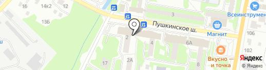 Киоск мороженого на карте Пушкино
