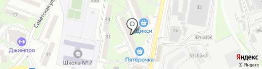 Икар на карте Реутова