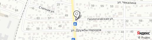 Мастерская на Геологической на карте Макеевки