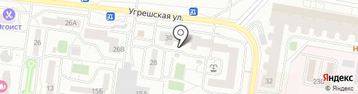 Угрешская, 30 на карте Дзержинского