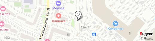 Магазин цветов на Покровском 3-ем проезде на карте Котельников