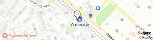 Ухтомская на карте Люберец