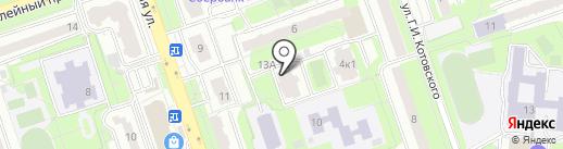 Домъ 13 на карте Реутова