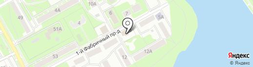 Почтовое отделение №141203 на карте Пушкино