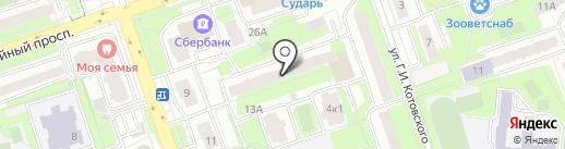 Мастерская бытовых услуг на карте Реутова