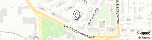 Рельеф на карте Макеевки