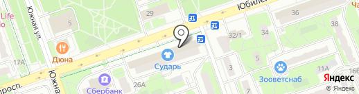 Т34 на карте Реутова