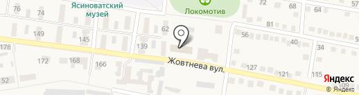Ясиноватский городской отдел ГУМВД Украины в Донецкой области на карте Ясиноватой